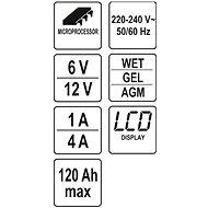 COMPASS Nabíječka 4A 6/12V PB/GEL LCD display - Nabíječka autobaterií
