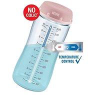 NUK FC+ Lahev s kontrolou teploty 300 ml  modrá - Kojenecká láhev