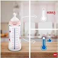 NUK FC+ Lahev s kontrolou teploty 300 ml tyrkys - Kojenecká láhev