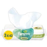 PAMPERS Coconut Pure 126 ks - Dětské vlhčené ubrousky