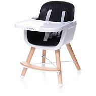 4BABY Scandy black - Jídelní židlička