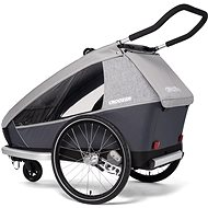 CROOZER KID FOR 2 Keeke 2v1 Stone Grey 2020 - Vozík za kolo