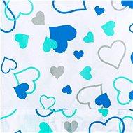 New Baby Klasická šněrovací zavinovačka - modrá srdíčka - Zavinovačka