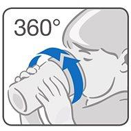 NUK hrnek Magic Cup s víčkem 230 ml - modrá - Dětský hrnek