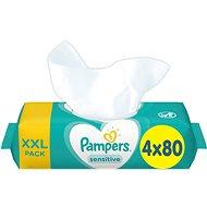 PAMPERS Sensitive XXL 4× 80 ks - Dětské vlhčené ubrousky