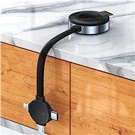 Baseus 4v1 bezdrátová nabíječka pro Apple Watch + Lightning / microUSB / USB-C výstupy 18cm šedá - Bezdrátová nabíječka