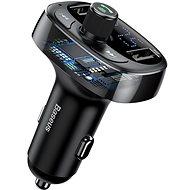 Baseus T-typed S-09 Wireless MP3 Car Charger FM Transmitter Black - Nabíječka do auta