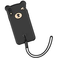 "Baseus Bear Silicone Case pro iPhone Xr 6.1"" Black - Kryt na mobil"