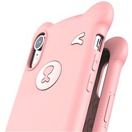 """Baseus Bear Silicone Case pro iPhone Xr 6.1"""" Pink - Kryt na mobil"""