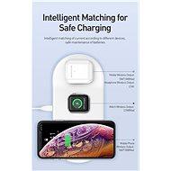 Baseus Smart 3in1 Wireless Charger for iPhone + Apple Watch + AirPods White - Bezdrátová nabíječka
