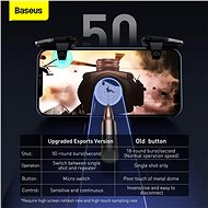 Baseus GAMO Mobile Game automatic combo Button Suit, 10mm Phone, black - Gamepad