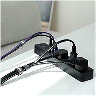 Baseus Rainbow Circle Velcro Straps 1m Black - Organizér kabelů