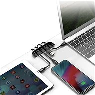 Baseus Cable Fixing Magic Tool organizér kabelů + pomůcka na nalepení skla pro iPhone Xr/11/12/12 Pr - Organizér kabelů