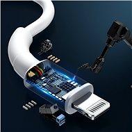 Baseus BMX Mini White MFi Cable Type-C (USB-C) to Lightning PD 18W 1.8m White - Datový kabel