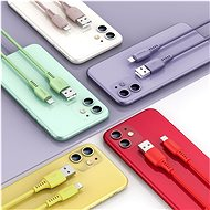 Baseus Colourful Lightning Cable 2.4A 1.2m Red - Datový kabel
