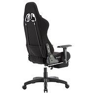 BHM Germany Turbo LED, textil, černá / černá - Herní židle