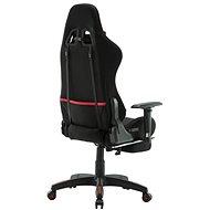 BHM Germany Turbo LED, textil, černá / červená - Herní židle