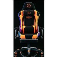 BHM Germany Turbo LED, textil, černá / oranžová - Herní židle