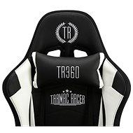 BHM Germany Turbo LED, syntetická kůže, černá / bílá - Herní židle