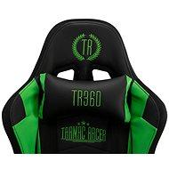 BHM Germany Turbo LED, syntetická kůže, černá / zelená - Herní židle