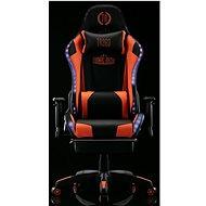 BHM Germany Turbo LED, syntetická kůže, černá / oranžová - Herní židle