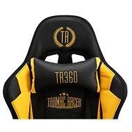 BHM Germany Turbo LED, syntetická kůže, černá / žlutá - Herní židle
