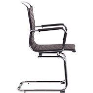 BHM Germany Burnley, pravá kůže, hnědá - Konferenční židle