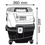 BOSCH GAS 15 PS Professional - Průmyslový vysavač