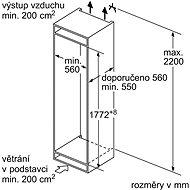 BOSCH KIN86VSF0 - Vestavná lednice