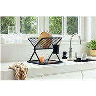 Brabantia Skládací odkapávač na nádobí, tmavě šedý - Odkapávač na nádobí