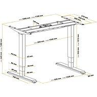 AlzaErgo Table ET1 NewGen bílý + deska TTE-03 160x80cm bílý laminát - Výškově nastavitelný stůl