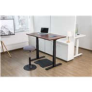 AlzaErgo Table ET2 černý + deska TTE-03 160x80cm hnědá dýha - Výškově nastavitelný stůl