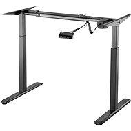 AlzaErgo Table ET2 černý + deska TTE-01 140x80cm bílá dýha - Výškově nastavitelný stůl