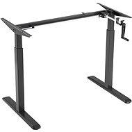 AlzaErgo Table ET3 černý + deska TTE-03 160x80cm bílý laminát - Výškově nastavitelný stůl