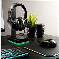 Cooler Master GS750, RGB, Qi bezdrátové nabíjení, černá - Stojan
