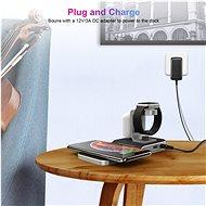 ChoeTech 4 in 1 MFi Wireless Charging Dock for iPhone + Apple Watch + AirPods - Bezdrátová nabíječka