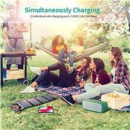 ChoeTech Foldable Solar Charger 22W Black - Solární panel