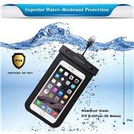 ChoeTech Waterproof Bag for Smartphones Black - Pouzdro na mobil