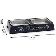 Pet Amour DBL My Favourite Cat dvojmiska bílá 2×200ml - Miska pro kočky