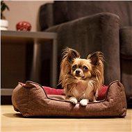 Akinu Chester  XS hnědá/červená - 45 × 37 × 15cm - Pelíšek pro psy a kočky
