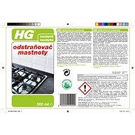 HG Odstraňovač mastnoty 500 ml - Čisticí prostředek