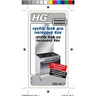 HG Rychlý lesk pro nerezový kov 125 ml - Čisticí prostředek