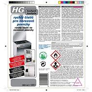 HG Rychlý čistič pro nerezové povrchy 300 ml - Čisticí prostředek