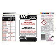 HG Extrémně intenzivní čistič  1 l - Čisticí prostředek