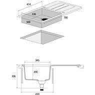 CONCEPT DG10C45bc - Granitový dřez