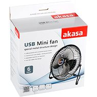 AKASA AK-UFN03 USB černý - USB ventilátor