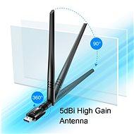 CUDY AC1300 High Gain USB Wi-Fi Adapter - WiFi USB adaptér