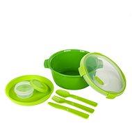 Curver SMART TO GO 1,6l s příborem, mističkou a táckem - zelená - Dóza