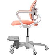 3DE Duorest Milky lososová s podpěrou nohou - Dětská židle