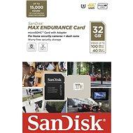 SanDisk MicroSDHC 32GB Max Endurance + SD adaptér - Paměťová karta